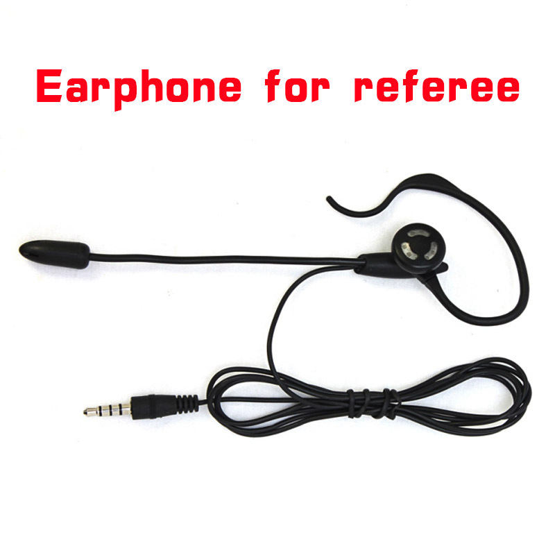 Vnetphone Football Soccer Referee Headset Monaural Headset Earhook Earphone For V6 V4 V5 Intercom Football Referee Arbitration