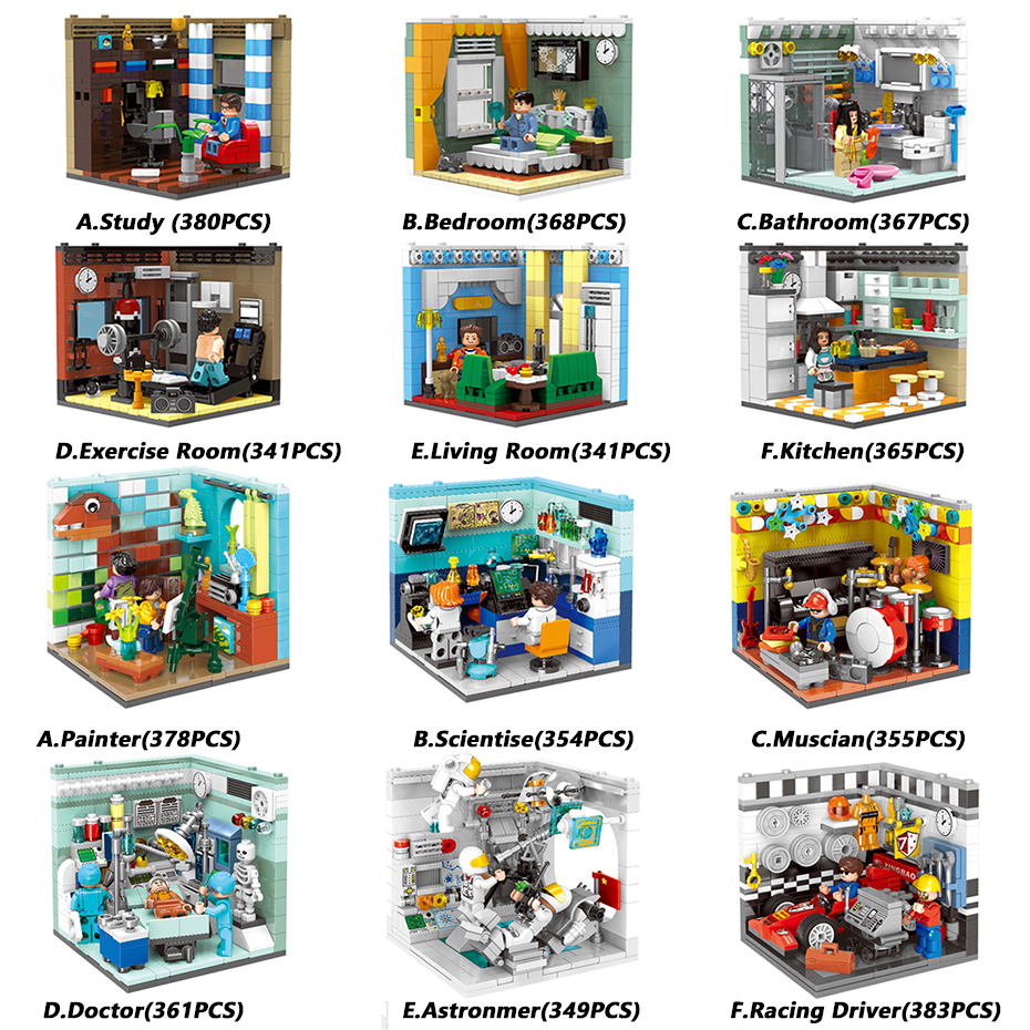 XINGBAO Genuine City Friends House Series Home Furnishing And Future Dreams Building Blocks Educational Bricks Room