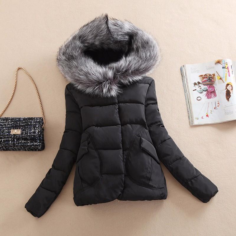 2016 Women Winter Coat Wadded Jacket Long Sleeve Hooded Parka Overcoat Padded Coast And Jackets Plus Size