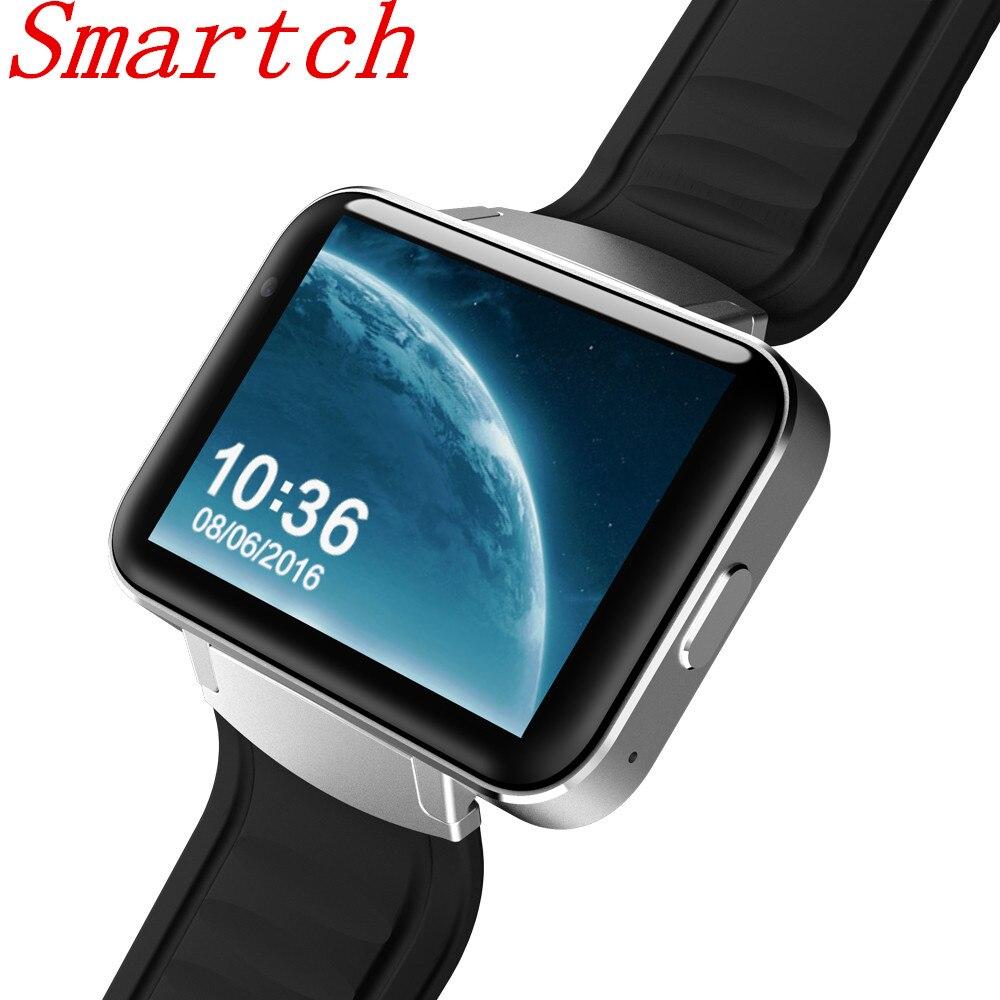 Smartch DM98 smart Watch Android 4.4 Smartwatch Phone Bluetooth 4.0 MTK6572 2G 3G Wristwatch WiFi 512MB 4GB GPS Watch PK LEM4 dm98 3g smart watch phone black
