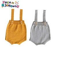 0-24M Baby Knitting Rompers Cute Overalls Newborn Autumn Baby Boys Clothes Infantil Baby Girl Boy Sleeveless Romper Jumpsuit