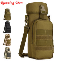 850ml Army Style Patrol Water Bottle Canteen Sport Camping Travel Hiking Supplies With Camo Bag New 15 *1 7 * 5 cm Sports bag