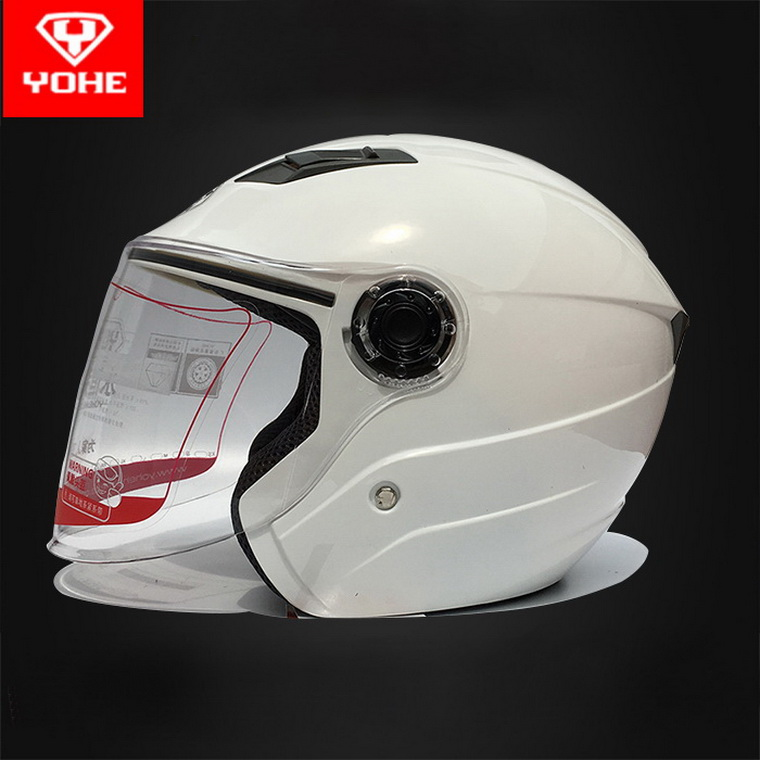 YOHE Open Face Helmets Motorcycle UV Protection One//Two Visors S-M-L-XL Size New