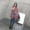 Elegancki zima odzież wierzchnia odzież bezrękawnik prawdziwe futro kamizelka kobiet gradacji prawdziwe Mongolia kamizelka z futra jagnięcego