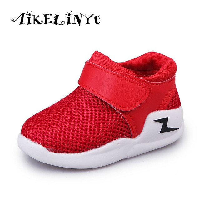 9e93aca5810e0 Baby Girl Breathable Sports Shoes 2019 Spring Autumn New Fashion Girls  Casual Shoes Kids Boys White Black Shoes Baby Boy Sneaker