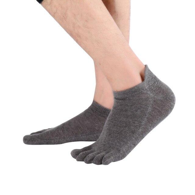2017 Feitong brand fashion Men Non Slip Massage Toe Socks With Socks Heel Five Finger sock free shipping
