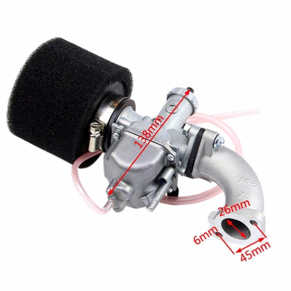 MYMOTOR Mikuni 26mm Carburetor Air Filter Intake Manifold fo 110cc 125cc 140cc Dirt Bike