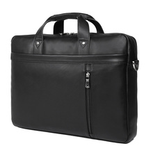 J.M.D Business Man Bag Real Leather Briefcase For Solid Bank OL Mens Dress Handbag 7386A