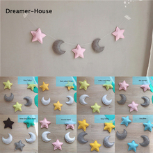 Nordic Baby Kids Room Handmade Nursery Star Garlands Decor Wall Home Decoration Ornament Photography Props