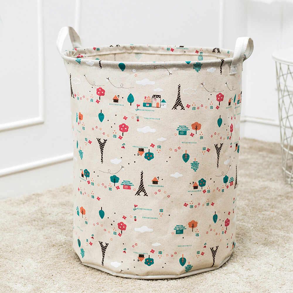 جديد إلكتروني الطباعة قماش للماء ملاءات الغسيل صندوق تخزين ملابس سلة للطي منظمة مربع ل القذرة الملابس 10Oct 13