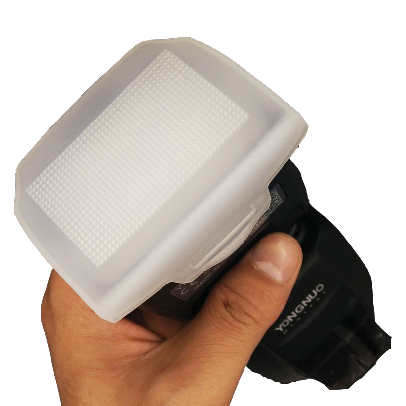 10pcs/let Yongnuo Flash Diffuser Bounce cover for Flash Speedlite Unit YN600EX-RT YN-685 YN685
