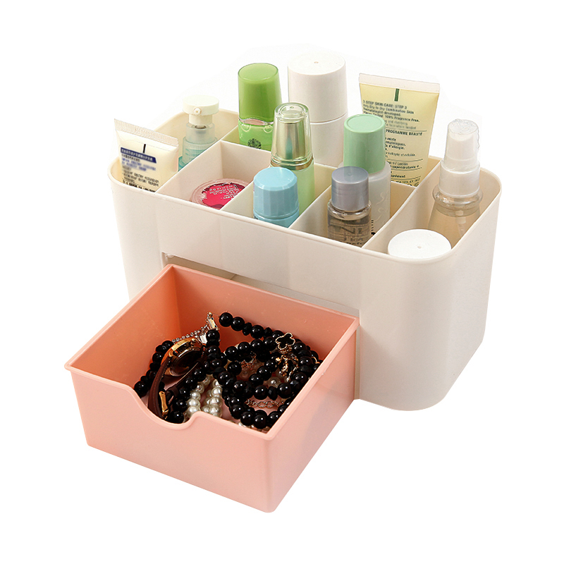 Cosmetic Jewelry Storage Box Organizer Makeup Lipstick Brush Drawer Makeup Case Office Desk Container Holder Accessories Supplie