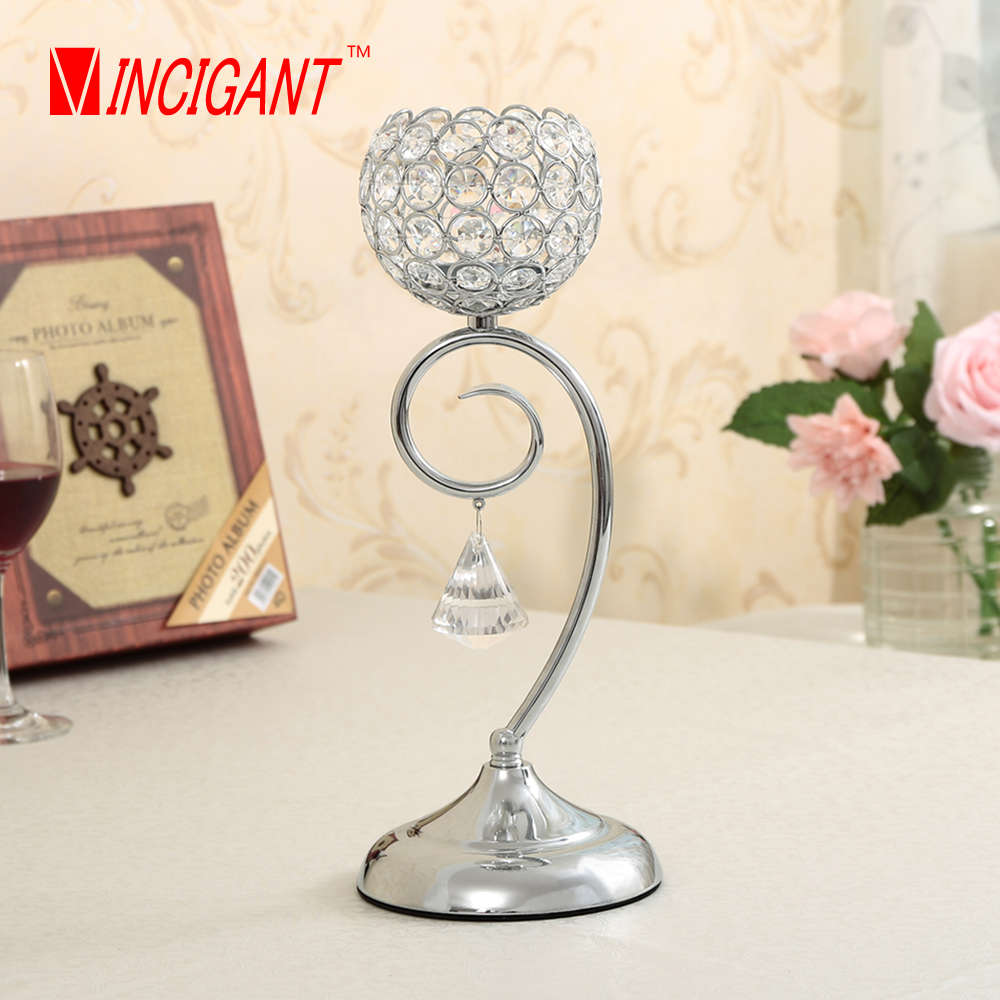 Online buy wholesale glass candelabra from china glass Crystal home decor