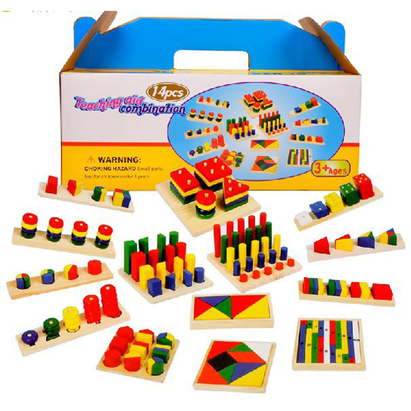 Educational Toys Nursery : Set lot montessori teaching aids combination preschool