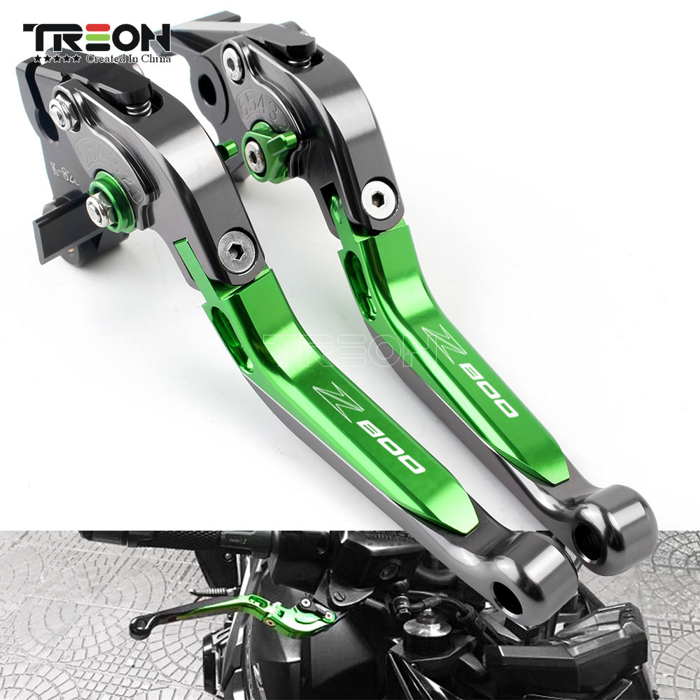 Motorcycle Accessories CNC Extendable Brake Clutch Levers One Set For <font><b>Kawasaki</b></font> Z800 <font><b>Z</b></font> <font><b>800</b></font> 2013-2016 Motorcycle Handle Ornamental image