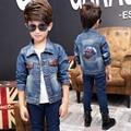 Children's Jacket Denim Boys Hooded Jean Jackets Girls Kids Clothing Baby Coat Casual Outerwear 2017 New Denim Jacket Boy