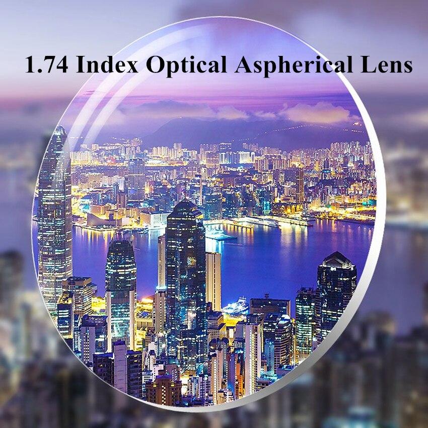 Lentille de Prescription de myopie optique de résine d'anti-rayonnement de lentilles asphériques Super minces d'index 1.74