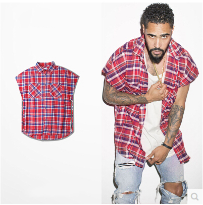 3 Colors High Fashion Mens Oversized Flannel Short Sleeve Shirts ...