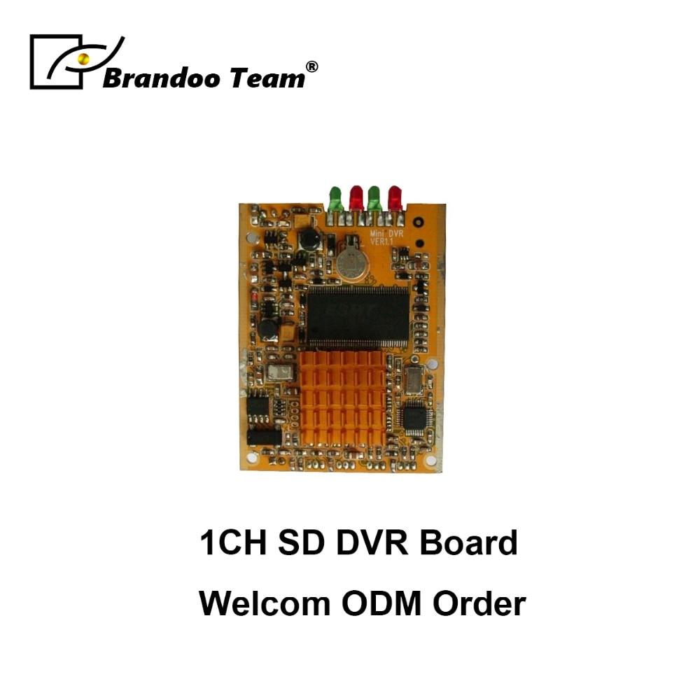 1 channel DVR module auto recording 64GB sd card remote controller used hot sale mini sd dvr board works with 1 camera auto recording 64gb sd card language oem