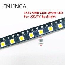 50-100pcs Original For LG LED 2W 6V / 1W 3V 3535 Cool cold white LCD Backlight for TV smd led