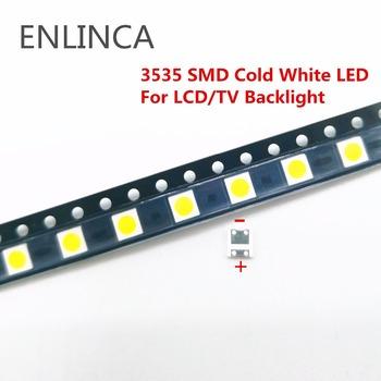 50-100 sztuk tylko oryginalne do lg LED 2W 6 V 1 W 3V 3535 zimne zimne białe podświetlenie lcd do telewizora LED smd tanie i dobre opinie ENLINCA Nowy Do montażu powierzchniowego 3535 LED