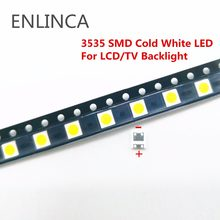 50-100pcs Original For LG LED LED 2W 6V / 1W 3V 3535 Cool cold white LCD Backlight for TV(China)