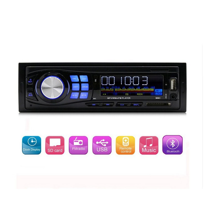 Bluetooth Car Radio Player Clock Display USB SD MP3/WMA Audio Player FM Radio Car MP3 Player Auto Accessories
