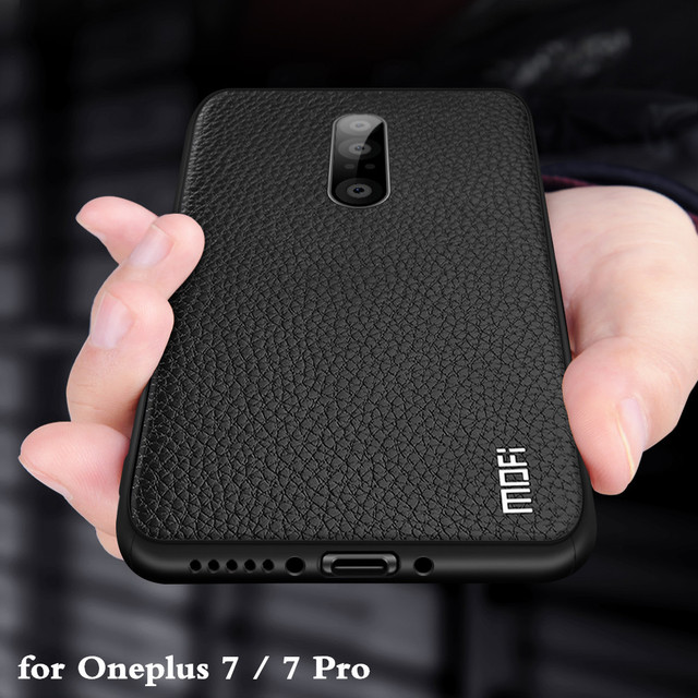 Funda MOFi para Oneplus 7 Pro, funda trasera para One Plus 7 pro, carcasa de TPU, silicona suave de cuero PU 1 + 7 7pro Full