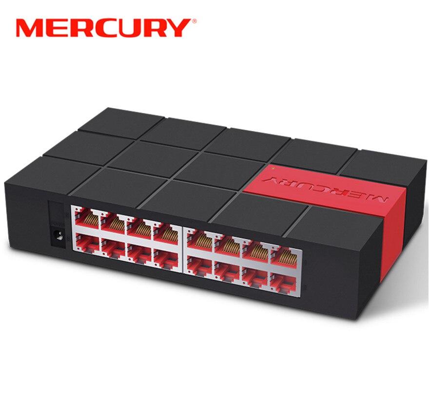 Mercúrio sg116m 16 porta rj45 gigabit switch 10/100/1000 mbps interruptor de rede interruptor de mesa