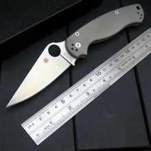 Hot Survival C81 Folding Knife TC4 Titanium Handle CPM S30V Blade Bearing Flipper Hunting Knife EDC Hand Tools