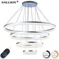 Dimmalbe Modern LED Pendant Lights For Living Room Hanging Circel Rings Acrylic Suspension Luminaire Pendant Lighting