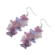2 Colors Women Unique Butterfly Dangle Chandelier Drop Earrings Ear Hook Party Jewelry