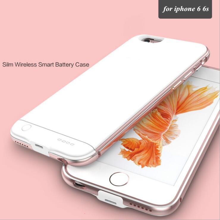 imágenes para 2017 súper materiales ultra-delgada para apple iphone 6 6s 4.7 caja de batería 2300 mah ultra thin cubierta del cargador de reserva de energía inteligente