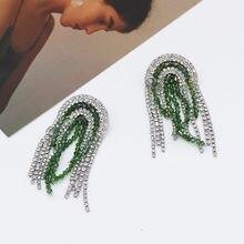 Rhinestone crystal earrings star fashion temperament crystal tassel  geometry wild earrings ball dance luxury accessories 785 deaa17a98d42