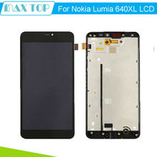 For Microsoft Nokia Lumia 640xl 640 xl LCD Display + Touch Screen Digitizer + Frame Assembly Free Shipping