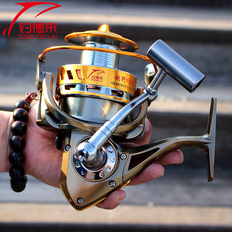 Molinete FDDL Fishing reel 8000 9000 full metal wire cup Big long Shot sea salt water 5.2:1 spinning reel carretilha pesca fddl 9000 10000 large long shot fishing wheel 12 1bb 4 9 1 full metal line cup spinning reel fishing reel carretilha para pesca