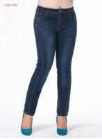 Plus Size High Waisted Stretch Jeans Pants Casual Vintage Designer Oversized Blue Denim Jeans Womens Elastic