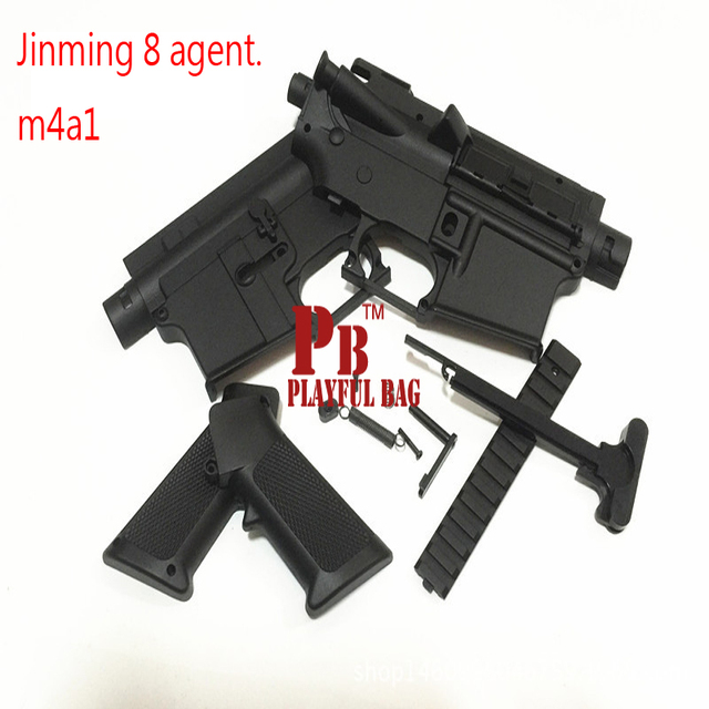 US $9 39 6% OFF|Aliexpress com : Buy PB Playful bag Gel ball gun blaster  jinming M4A1/ 8 generation main body parts Free assembly suite from  Reliable