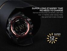 Smartch Smart Watch EX16 Xwatch Sports Bluetooth 4.0 5ATM Waterproof IP67 Smartwatch Wristband Stopwatch Alarm Clock LONG TIME