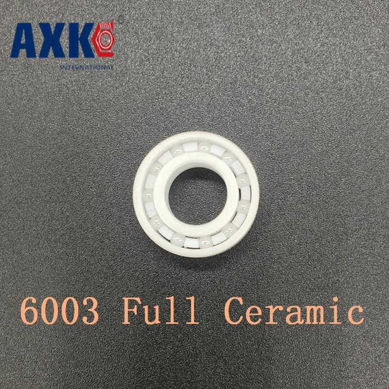 AXK 6003 Full Ceramic Bearing ( 1 PC ) 17*35*10 mm ZrO2 Material 6003CE All Zirconia Ceramic Ball Bearings zro2 full ceramic bearing 6003 17x35x10mm ceramic bike repair bearing 1 piece