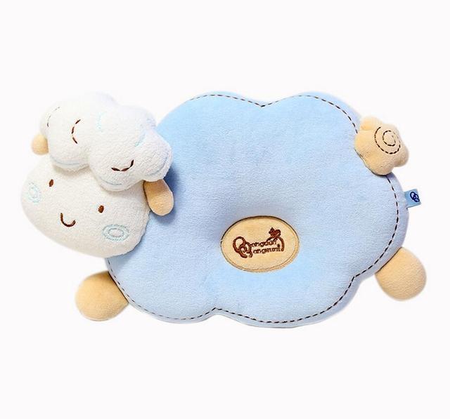 Carneiros bonitos Travesseiro Infantil 2016 Bebê Dos Desenhos Animados Meninas De Algodão Do Bebê Recém-nascido Moldar Travesseiro 0-36months Coroa Travesseiro Travesseiro Frete grátis