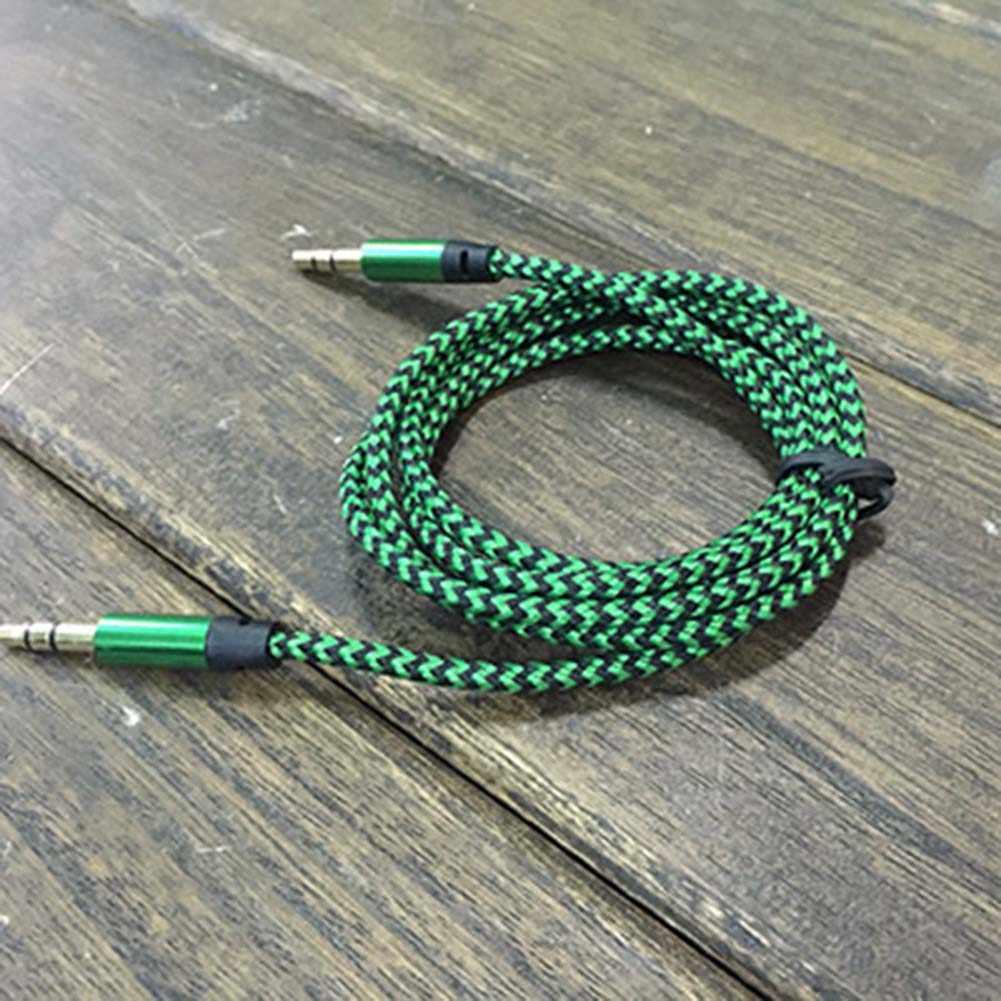 3,5 мм AUX папа-папа стерео разъем для наушников динамик кабель плетеный прочный