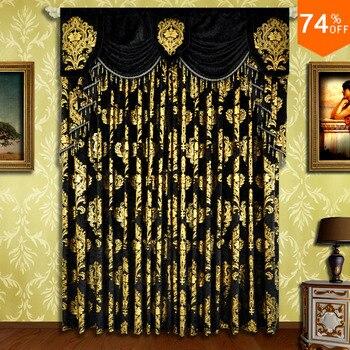 Weihnachten Schwarz Vorhang Stickerei Noel Goldene Blumen Samt Bär öse Vorhänge Schlafzimmer Vorhang Weihnachten Stange Schwarz Vorhänge