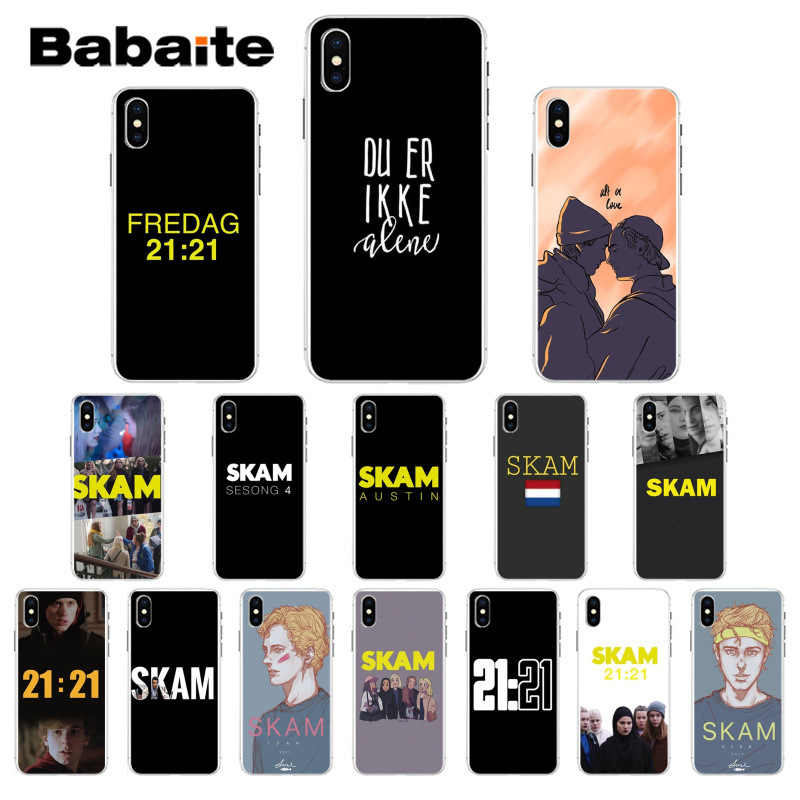 Babaite Norwegian Tv serial Skam TPU Soft Phone Accessories Phone Case for iPhone 7 8 6S 6plus 7plus 8Plus X Xs MAX 5 5S XR