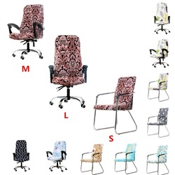 Modern Spandex Computer Chair Cover 100% Polyester Elastic Fabric Office Chair Cover 7 Colors 3 Size Easy Washable Removeable