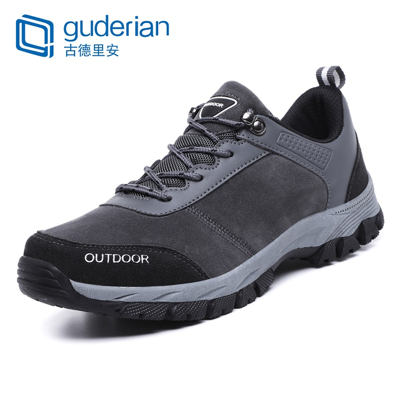 GUDERIAN New Spring Autumn Men Hiking Shoes Lace Up Outdoor Sneakers Shoes Men Breathable Casual Shoes For Men Big Size 39-49
