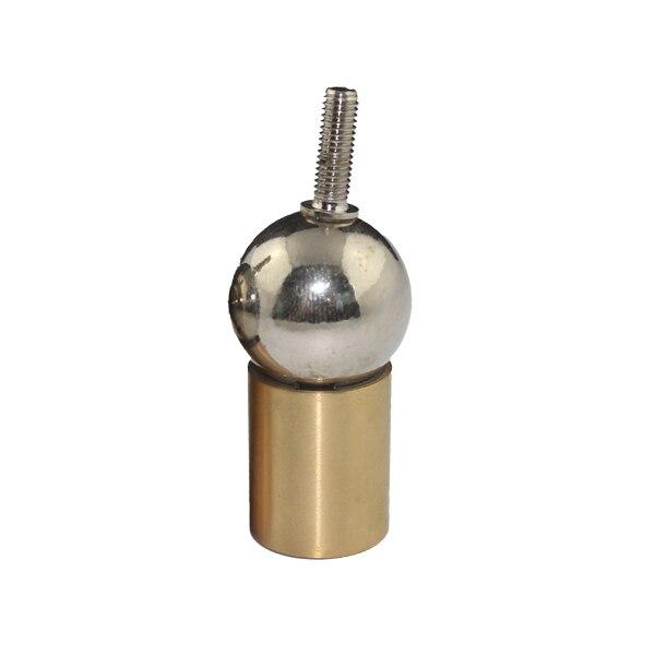 Connecteur de prise dimprimante 3d KD625, boule dacier, extrémité de tige en laiton avec trou de filetage, joint magnétique permanent universel