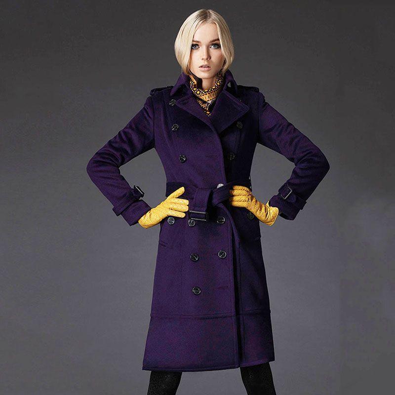 Womens winter jackets cashmere coat Purple Sexy winter coats High ...