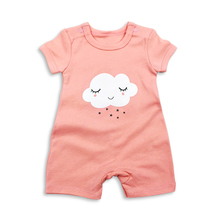 summer baby girl clothing 100% cotton newborn rompers Clothes short sleeve cartoon toddler cute