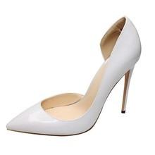 Size 4-13.5 Genuine Sheepskin Leather High Heel Women Pumps Shoes Fashion Designe Pointed Toe Slip On Ladies Dress Shoes C002A цена 2017